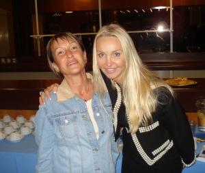 Skupaj s Heather Bird, američanko, ki živi v Londonu, kjer redno organizira Anti-Aging Conference; London, september 2011
